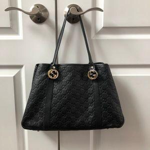 f8fa6bdf7ac Women s Guccissima Black Bag Leather Shoulder on Poshmark